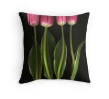 Tulip Quartet Throw Pillow