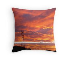 Morning Sutro Tower Throw Pillow
