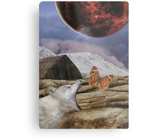 Under a blood red moon Metal Print