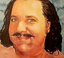 Ron Jeremy watercolor by DeniseLaFrance4