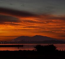 Sun Rise Over Mount Diablo by hornersfire