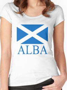 Alba (Scotland) Women's Fitted Scoop T-Shirt