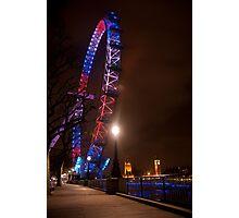 Red White Blue - London Eye & Big Ben Photographic Print