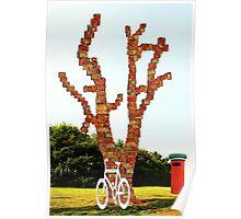 Brick tree and Concrete Bike Poster