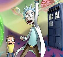 Rick and Morty Doctor Who by boostedartwork