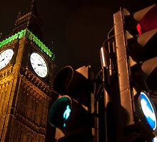 Big Ben - Green Man - Red Light by Jiggycreationz