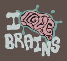 I Love Brains (Dark Tee's) by Anna Beswick
