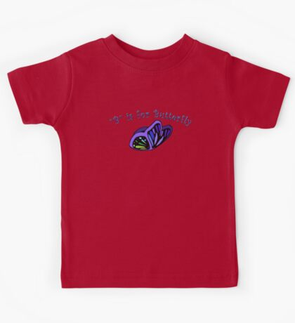 B is for Butterfly Kids Tee
