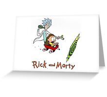 Rick and Morty Calvin and Hobbes Greeting Card