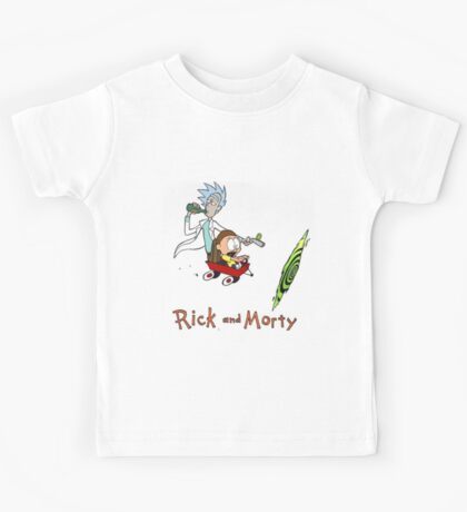 Rick and Morty Calvin and Hobbes Kids Tee