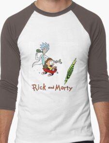 Rick and Morty Calvin and Hobbes Men's Baseball ¾ T-Shirt