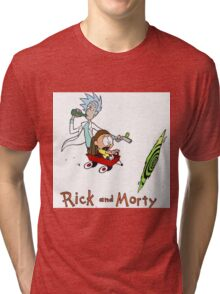 Rick and Morty Calvin and Hobbes Tri-blend T-Shirt