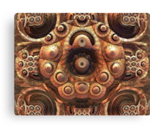 The metal sculpture Canvas Print