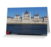Budapest Tourists Greeting Card