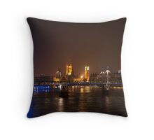 London Eye, Thames & Big Ben Throw Pillow