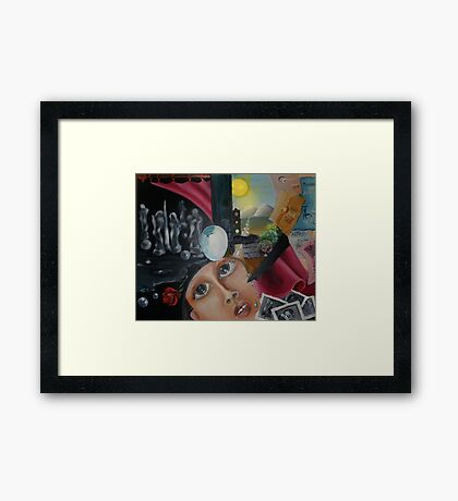 Yesterday and today ... Framed Print