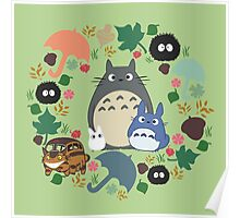 Green Totoro Wreath - My Neighbor Totoro Poster