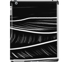 black and white oil pastels iPad Case/Skin