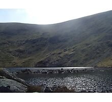 glacial corrie and tarn - borrowdale valley Photographic Print