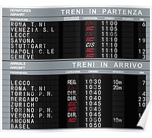 Milano Centrale Departures Board Poster