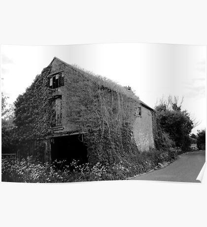 Overgrown Barn Poster
