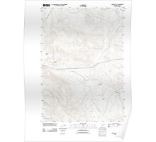 USGS Topo Map Oregon Virtue Flat 20110831 TM Poster