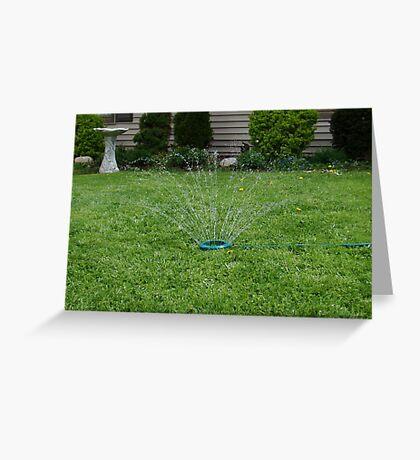 Sprinkler Kicks Off Summer Greeting Card