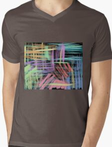 oil pastels pattern Mens V-Neck T-Shirt