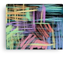 oil pastels pattern Canvas Print