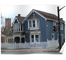 Charming Main Street, Markham, Ontario - I've always wanted a white picket fence! Poster