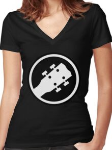 ukulele Women's Fitted V-Neck T-Shirt