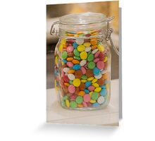 sweet candy in the jar Greeting Card