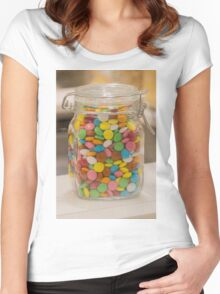 sweet candy in the jar Women's Fitted Scoop T-Shirt