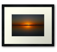 Still Morning Sunrise Framed Print