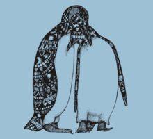 Penguin Hug One Piece - Short Sleeve