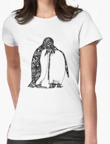 Penguin Hug Womens Fitted T-Shirt