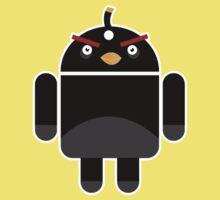 Droidbird (black bird) Kids Clothes