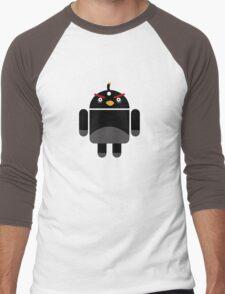 Droidbird (black bird) Men's Baseball ¾ T-Shirt
