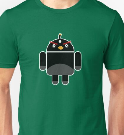Droidbird (black bird) Unisex T-Shirt