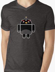 Droidbird (black bird) Mens V-Neck T-Shirt