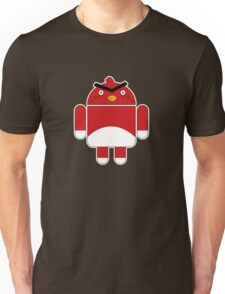 Droidbird (red bird) Unisex T-Shirt