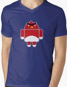 Droidbird (red bird) Mens V-Neck T-Shirt