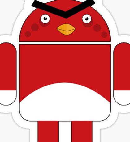Droidbird (red bird) Sticker
