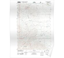 USGS Topo Map Oregon Rock Creek 20110801 TM Poster