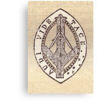 Masonic Vesica Piscis symbol Canvas Print