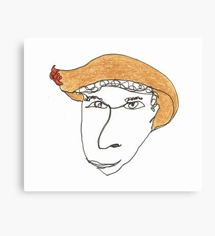 I wonder what happens if you wear this hat... Canvas Print