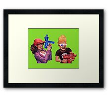 Zombies Ate My Neighbours Framed Print