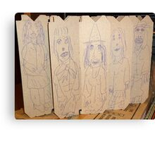 drawings on cardboard inserts from liquor carton, photo #2 Canvas Print