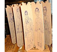 drawings on cardboard inserts from liquor carton, photo #3 Photographic Print