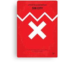 No304 My SIN CITY minimal movie poster Canvas Print